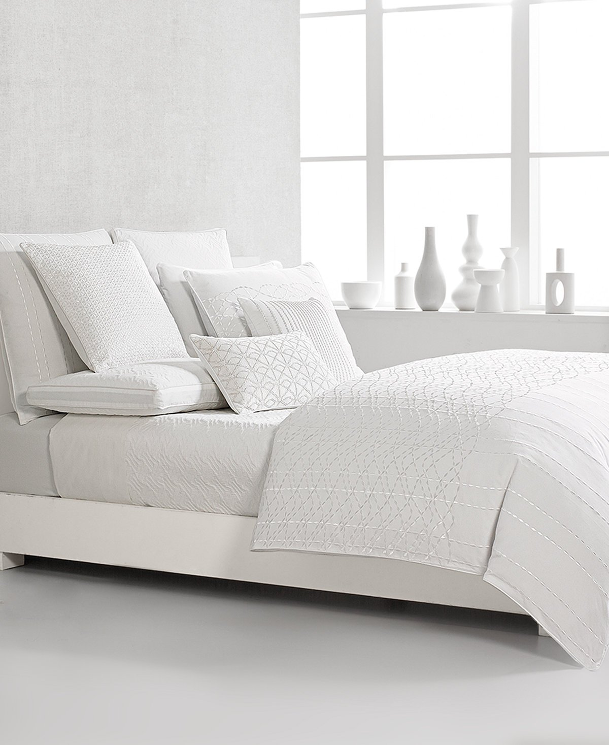 Hotel Collection Sonnet Full Queen Quilted Coverlet Bedding, White