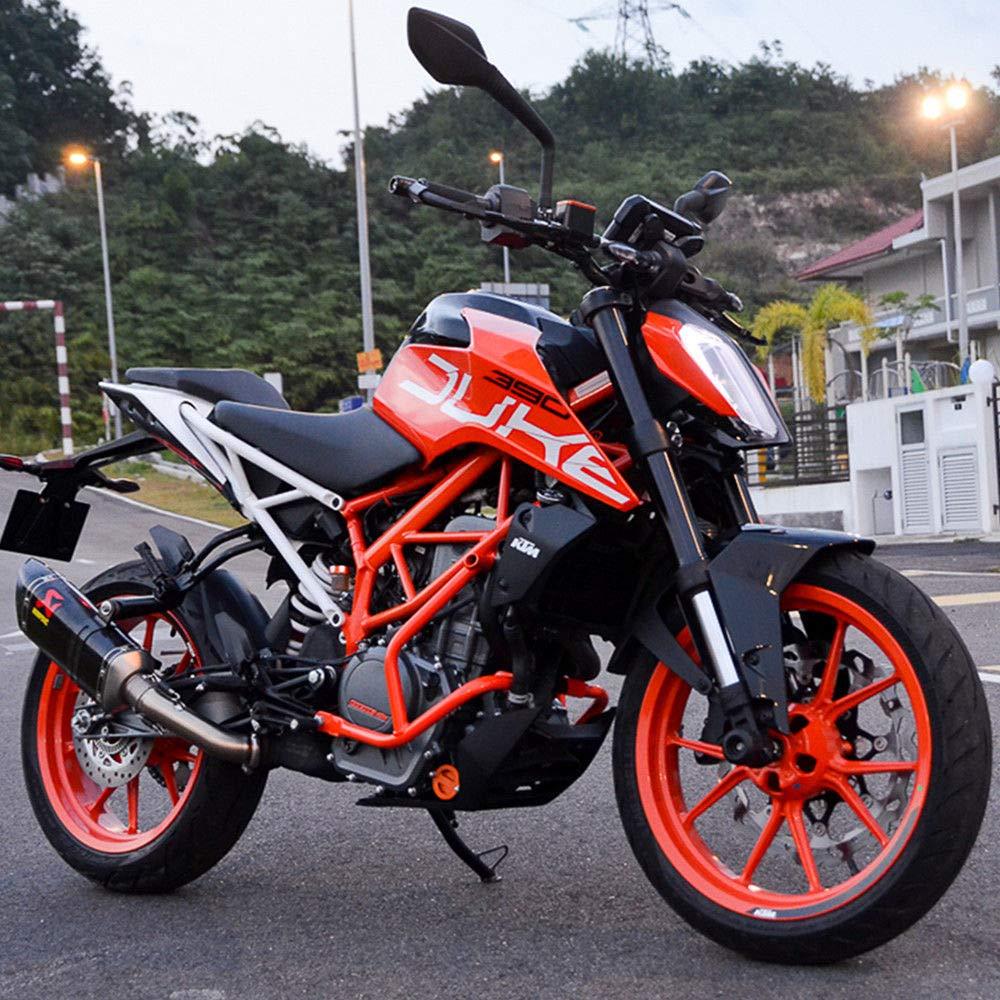 FATExpress Motorcycle Aftermarket Orange Steel Lower Engine Guard Crash Bar Side Bumper Protector for 2017-2018 KTM Duke 250 390 17-18