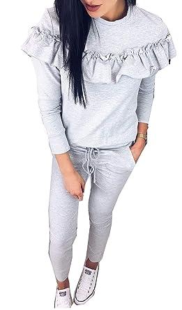MQ Boutique - Chándal para Mujer, diseño de Volantes, Estilo ...