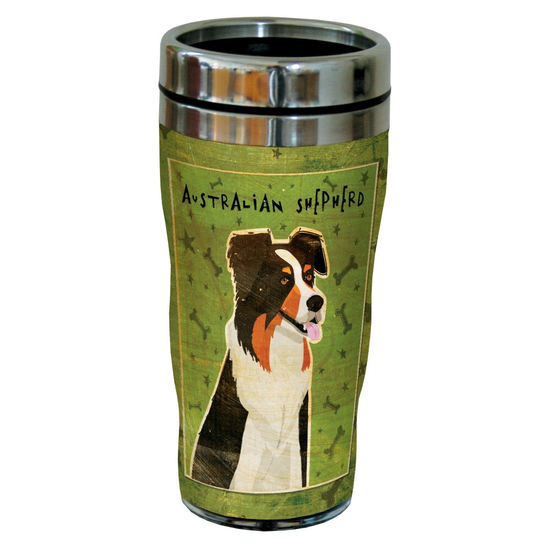 Golden 16-Ounce Sip N Go Stainless Steel Lined Travel Tumbler Tree-Free Greetings sg24017 Blue Merle Australian Shepherd by John W
