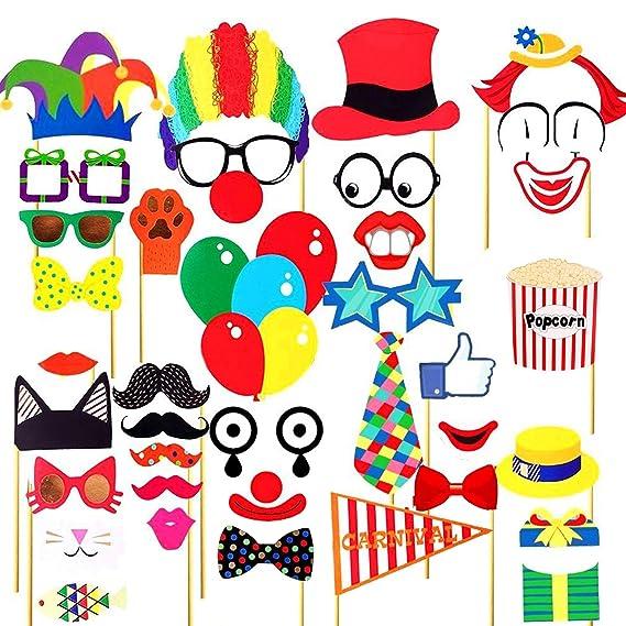 Carnaval Circo Foto Booth Props, Fotomatón Photocall ...