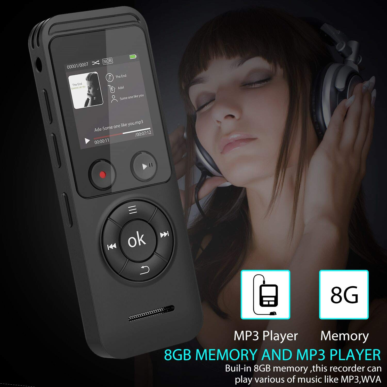 8GB Digitaler Voice Recorder Digitales Diktiergerät