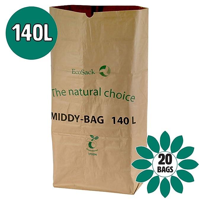 140 litros x 20 bolsas de basura biodegradables y ...