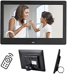 Digital Photo Frame 10 Inch IPS Screen Digital Photo Frames with USB SD Card Slots and Remote Control Digital Picture Frame HD 16:9 Widescreen,Black1280*800