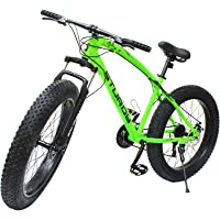 STURDY BIKES Fat Mountain Bike with 26X4 Inch Tyres (Green)