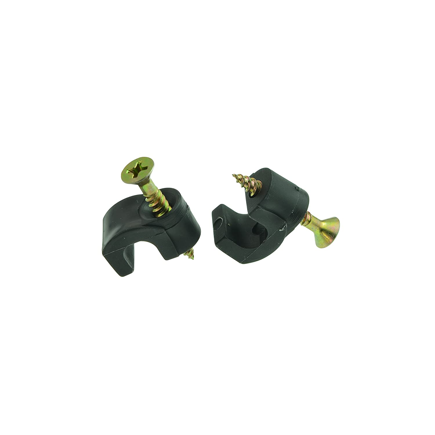 with 1 inch Slotted//Phillips Hex Head Type AB Tapping Screw for RG6 100 pcs - Black Mediabridge 7mm Cable Clips 0.275in Diameter Part# MCC1-70H-BLA
