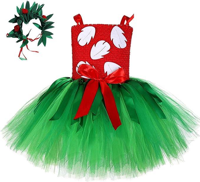 MOCUER Disfraz Hawaiano de Hojas de Helecho Tropicales para niñas ...