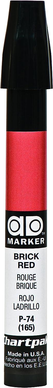 The Original Chartpak AD Marker, Tri-Nib, Brick Red, 1 Each (P74)
