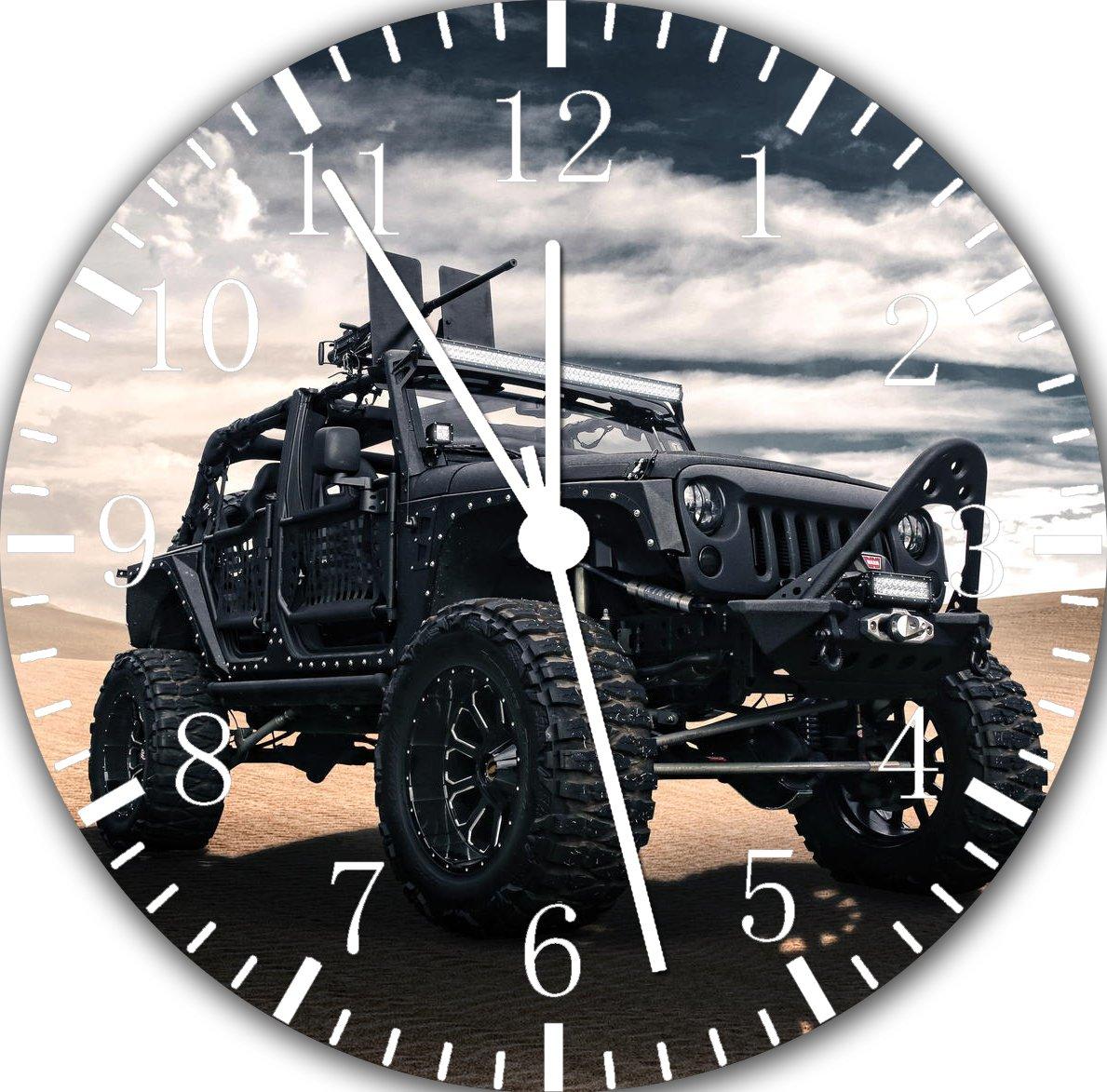 Jeep Wrangler Off Road Frameless Borderless Wall Clock F102 Nice For Gift or Room Wall Decor