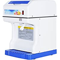 KUPPET Ice Shaver/Shaving /Crusher Snow Cone Machine,Tabletop Device, 1400 RMS Modern Commercial Electric,264lbs, 250W,350 Circle/Min, White/Blue