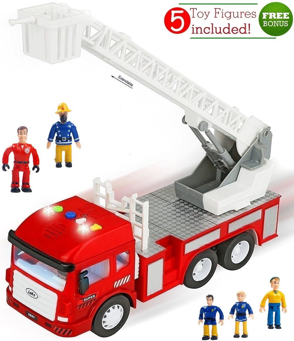 FUNERICA Fire Truck with Lights Firetruck and Rolling Sounds/Sirens Toy - Extending Ladder - 4 Sounds - Contains 5 Mini Funerica Fireman Sam Figures - 6 Powerful Friction Rolling Wheels. Firetruck Toy for Kids and Toddlers B01HPCWUDK, 天使が運ぶギリシャの風 AWAPLAZA:ff7ded70 --- ijpba.info