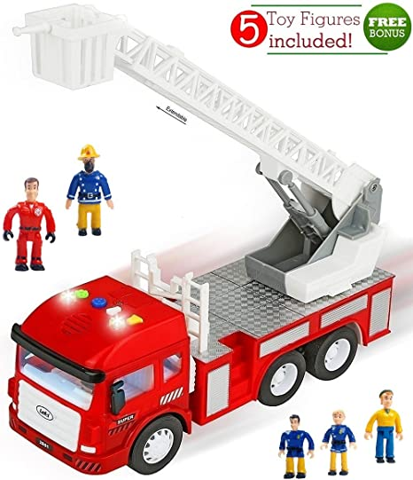 Elegant FUNERICA Toy Fire Truck With Lights And Sounds   4 Sirens   Extending  Ladder   Powerful