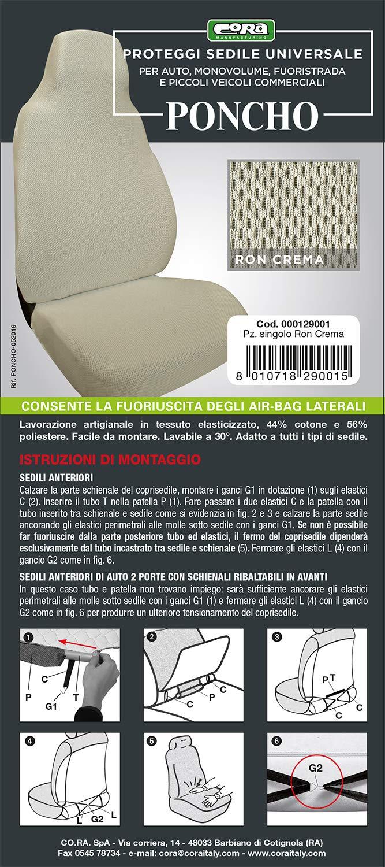 Cora 000129001/Poncho Cream Car Seat Cover
