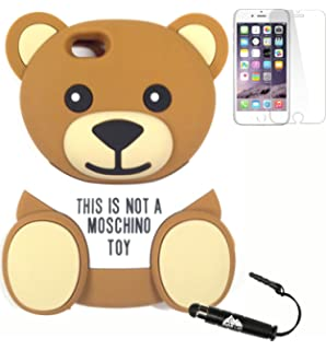 official photos 968e7 14b2f Amazon.com: Moschino Toy Bear iPhone X Case, Black Multi, One Size ...