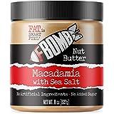 FBOMB Macadamia Nut Butter: Keto Fat Bombs, Natural Roasted Macadamia Nuts | High Fat, Low Carb Snack, High Quality Energy | Paleo, Whole30, Keto Snacks | Macadamia & Sea Salt - 8 Oz Jar