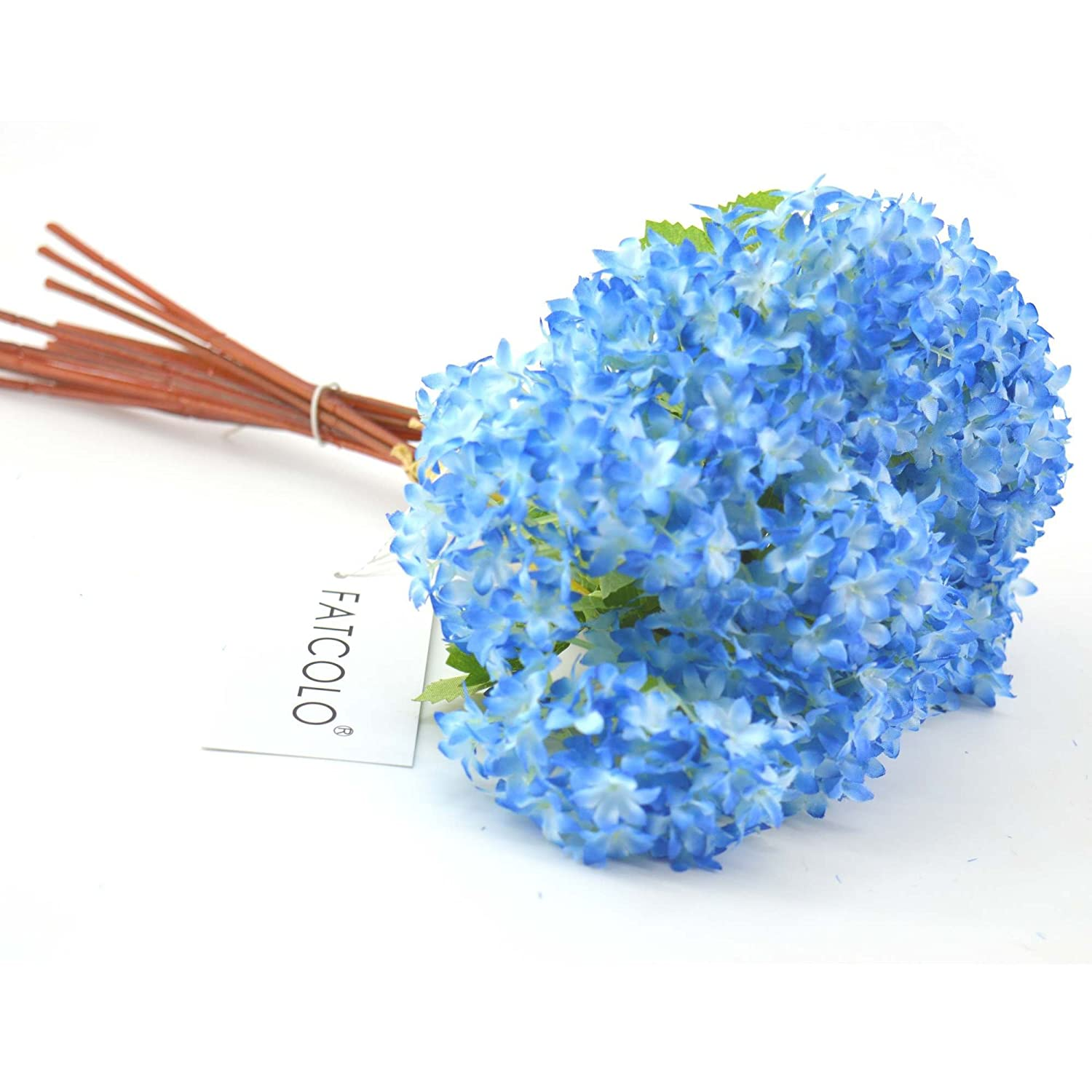 Amazon 12 Pcslot Lovely Mini Hydrangea Artificial Fake Plastic