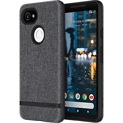 official photos 2ef51 678c3 Incipio Carnaby Google Pixel 2 XL Case [Esquire Series] with Co-Molded  Design and Ultra-Soft Cotton Finish for Google Pixel 2 XL - Gray