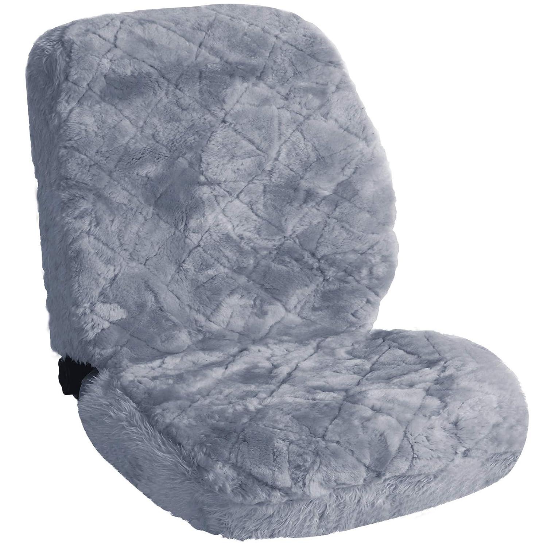 eSituro SCSC0140 universal /ökologisch Lammfellbezug Sitzbezug Sitzbez/üge f/ür Auto aus echtem Lammfell schwarz