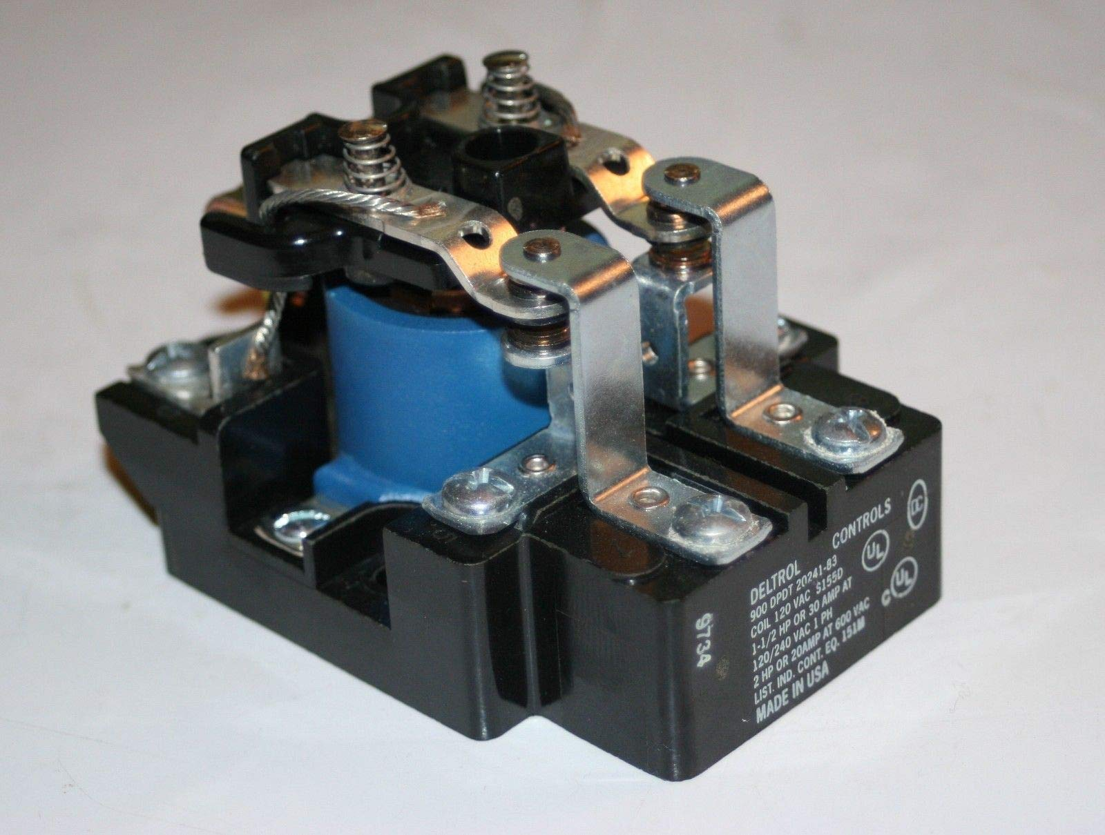 Deltrol Controls 900 DPDT 20241-83 Electromechanical Power Relay 120VAC 30A