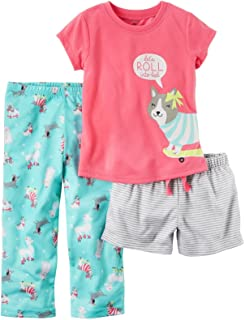 6db55e45fe97 Amazon.com  Carter s Girls  3-Piece Cotton Pajamas  Clothing
