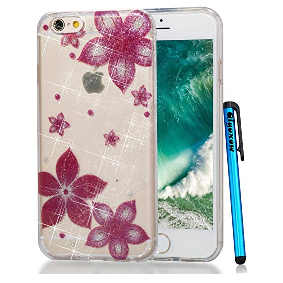 new arrival 9fbbd bf2db iPod Touch 6 Case, Qiyuxow iPod Touch 5 CLEAR Case Soft Bright Glitter  Sparkle Art Print Anti-Scratch TPU Bumper Case for Apple iPod Touch 5 6th  ...