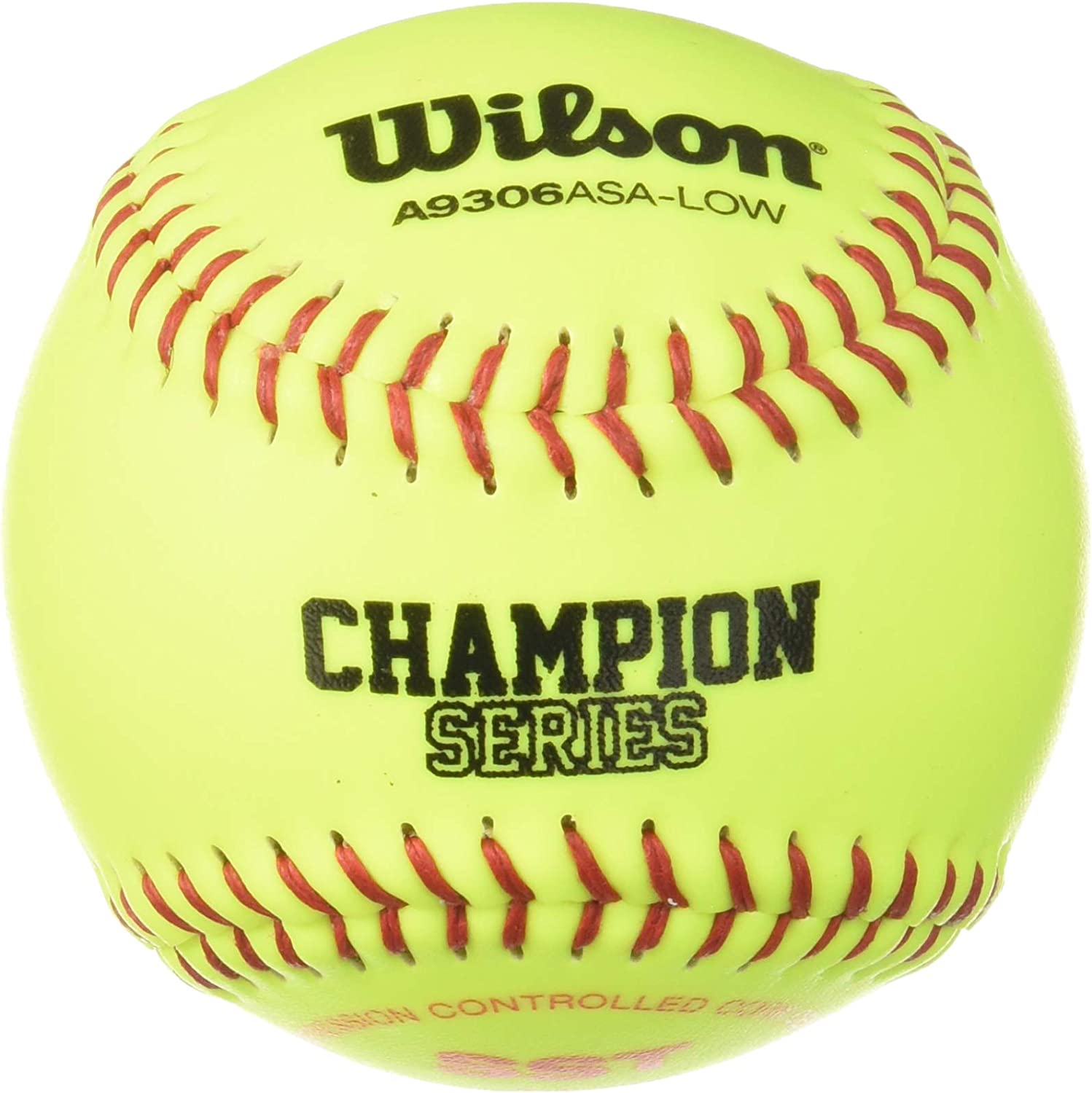 Wilson A9306 ASA Series Softball (12-Pack), 11-Inch, Optic Yellow : Sports & Outdoors