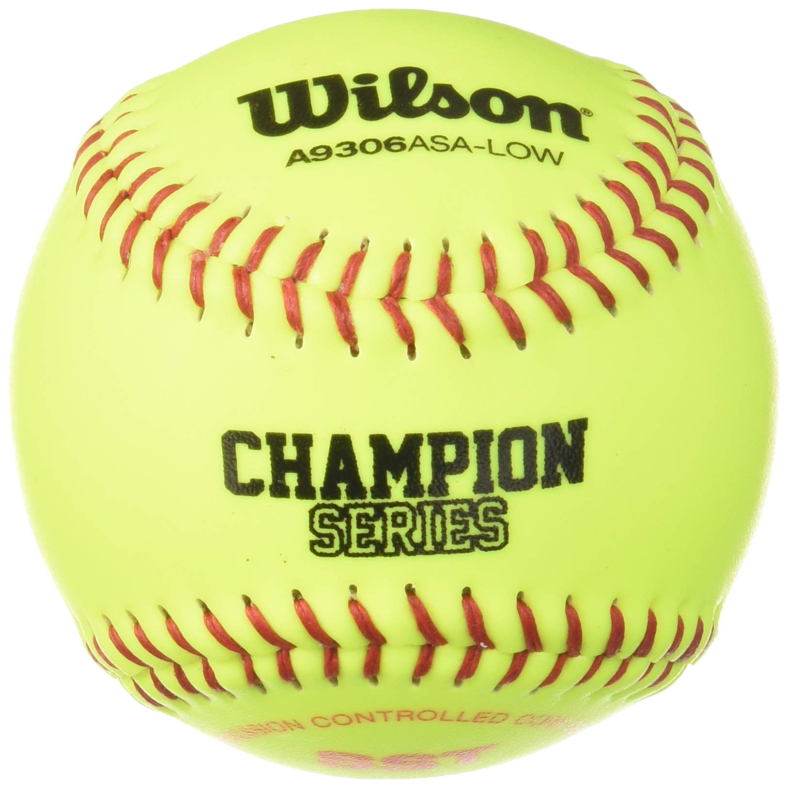Wilson A9306 ASA Series Softball (12-Pack), 11-Inch, Optic Yellow by Wilson (Image #1)