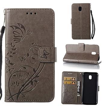 KATUMO Carcasa Cuero Compatible con Samsung Galaxy J5 2017, Funda Book Cover Cartera Tapa Case para Smartphone Compatible con Samsung Galaxy J5 2017 ...