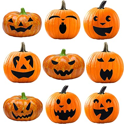 Amazon.com: Elcoho Pumpkin Decorating Craft Kits Halloween Pumpkin ...