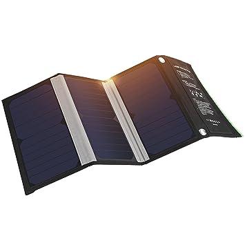 Cargador Panel Solar 21W con 2 Puertos 5V 2A USB Salida ...