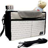 Buggy Poussette Organisateur, Airlab Buggy Stroller Organizer avec couvercle et compartiments, imperméable à l'eau
