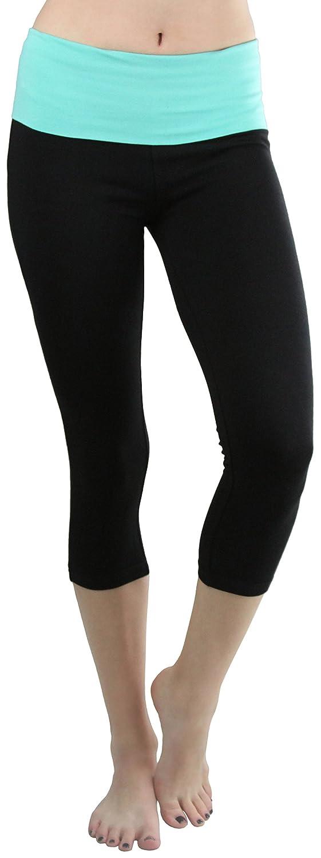 361899acf3 ToBeInStyle Women's Contrast High Waistband Yoga Capri Leggings at Amazon  Women's Clothing store: