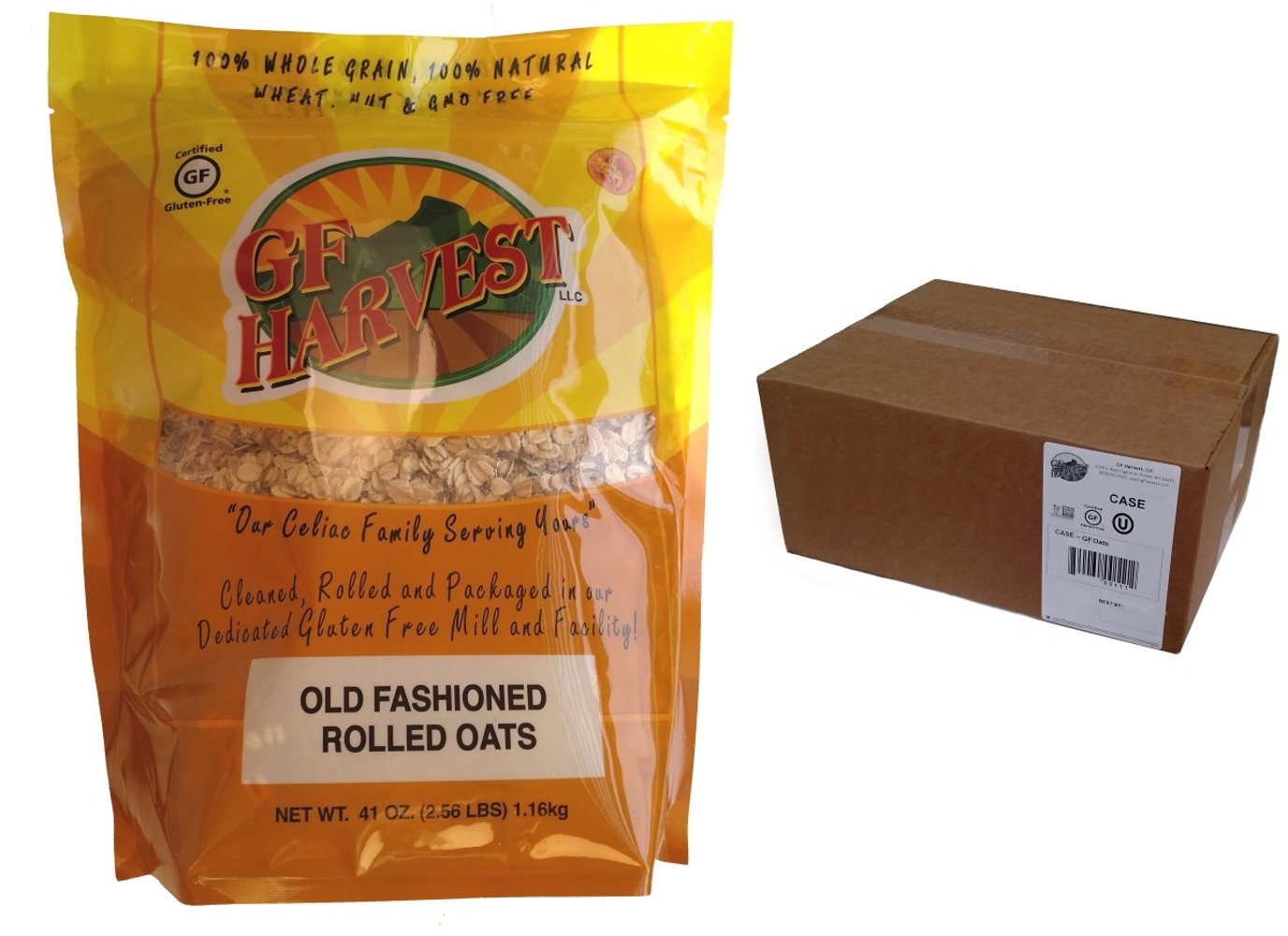 GF Harvest Gluten Free PureOats Rolled Oats, 41 oz. Bag, 6 Count by GF Harvest