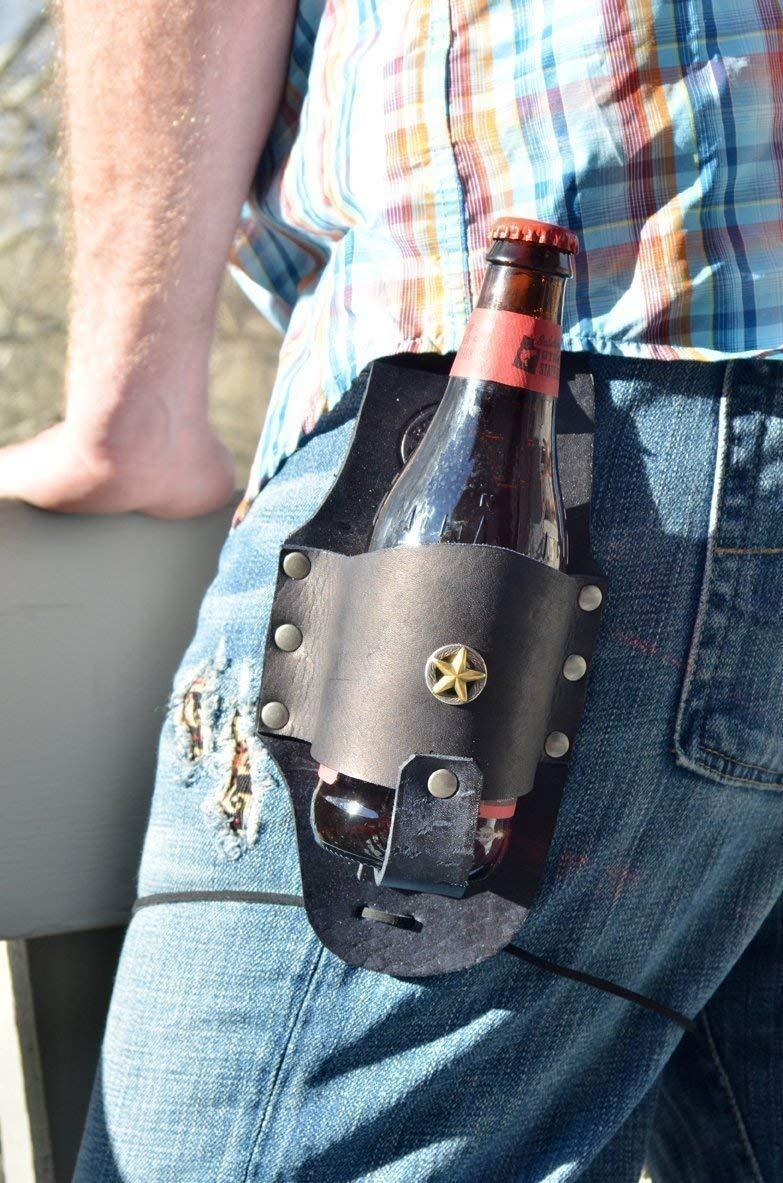 Drink Slings Custom Personalized Leather Beer Holster-Groomsmen Gifts
