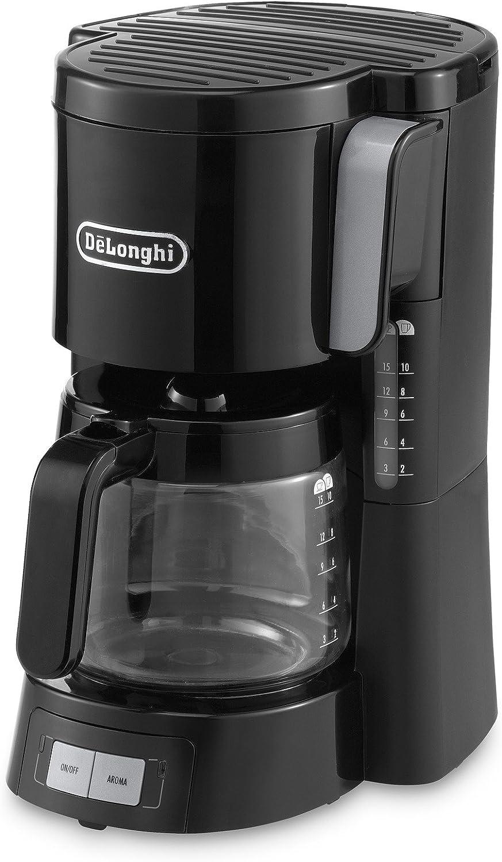 De'Longhi ICM 15240 Cafetera de filtro, independiente, 1000 W, 1.25 L, plástico, negro