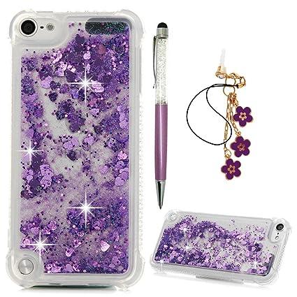 d18208a6e2 iPod Touch 5ケースiPod Touch 6ケース、キラキラ液体ケースカバーQuicksand Blingフローティング