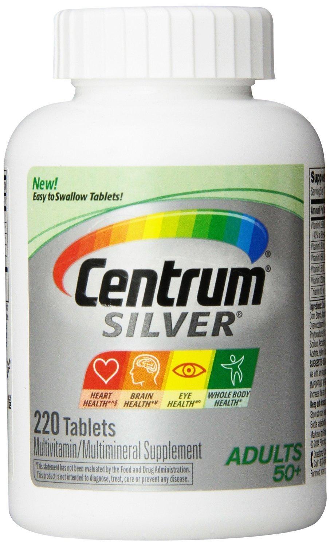 Centrum Silver Multivitamin, 220 Tablets 2 pack