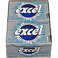 Excel Sugar-Free Gum, Polar Ice, 12 Count