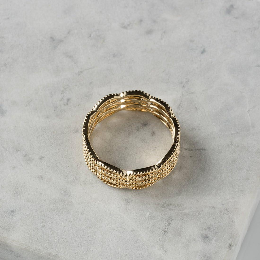 Classic Feminine Gold Net Ring for Ladies Women Girls