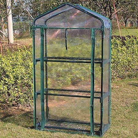 Carpa compacta de invernadero para jardín, aislamiento térmico de plantas y flores y carpa anticongelante, cubierta de planta de invernadero con 3 estantes, para horticultura de interior y exterior: Amazon.es: Hogar