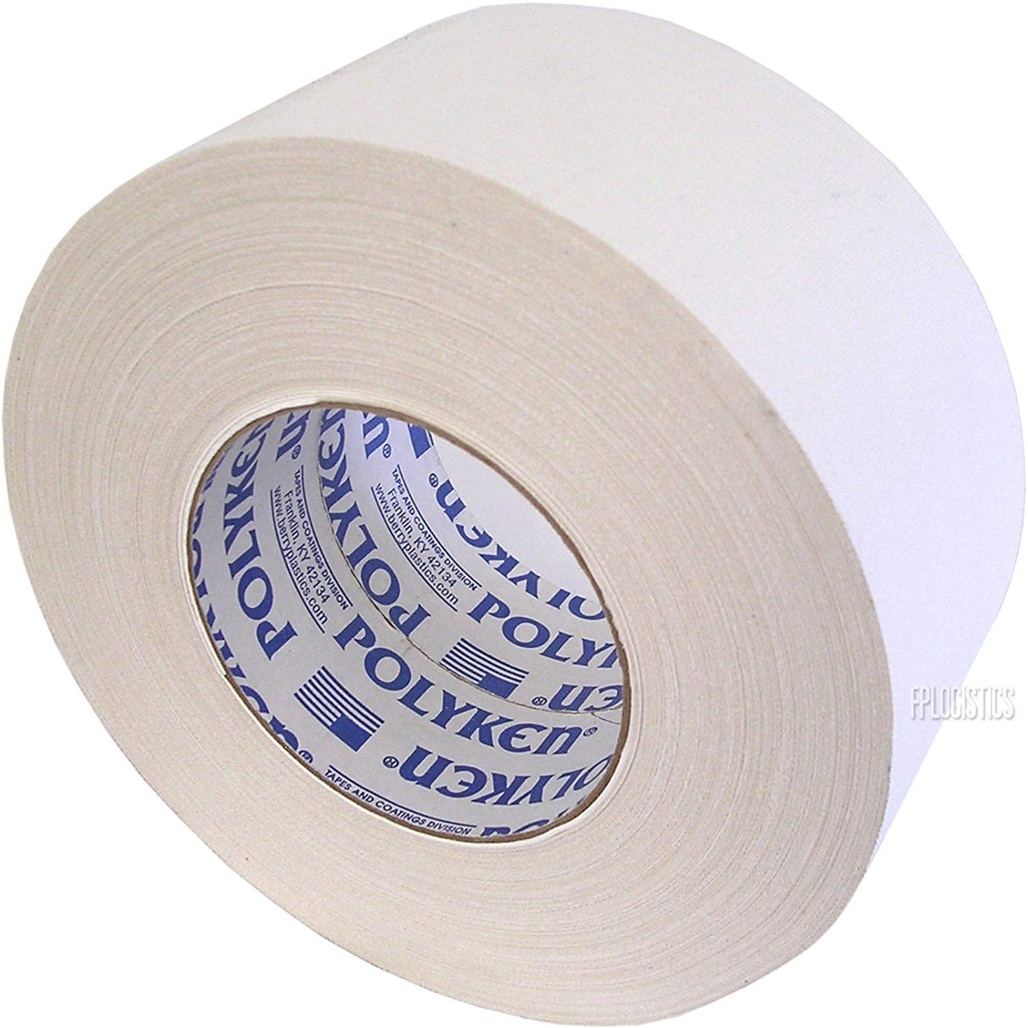 Seforim and Book Binding Specials - Polyken - 4 Rolls Total of White 2-inch Wide Book Binding Tape by Polyken
