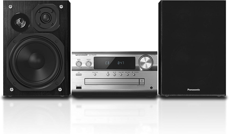 Panasonic SC-PMX90 -Microcadena Con Altavoces de Bambú- (120 W, Hi- Fi, Sonido Hogar, 14 cm Woofer, 1.9 cm Silk Dome Tweeter, 1.5 cm Piezo Twitter, Bluetooth, USB Dual, Radio FM, AUX 3.5