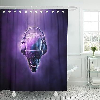 Amazon Emvency Shower Curtain Disco Ball Skull 3D Of Shaped