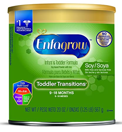 Enfagrow Toddler Transitions Soy Formula - Milk & Lactose Free - Powder Can, ...