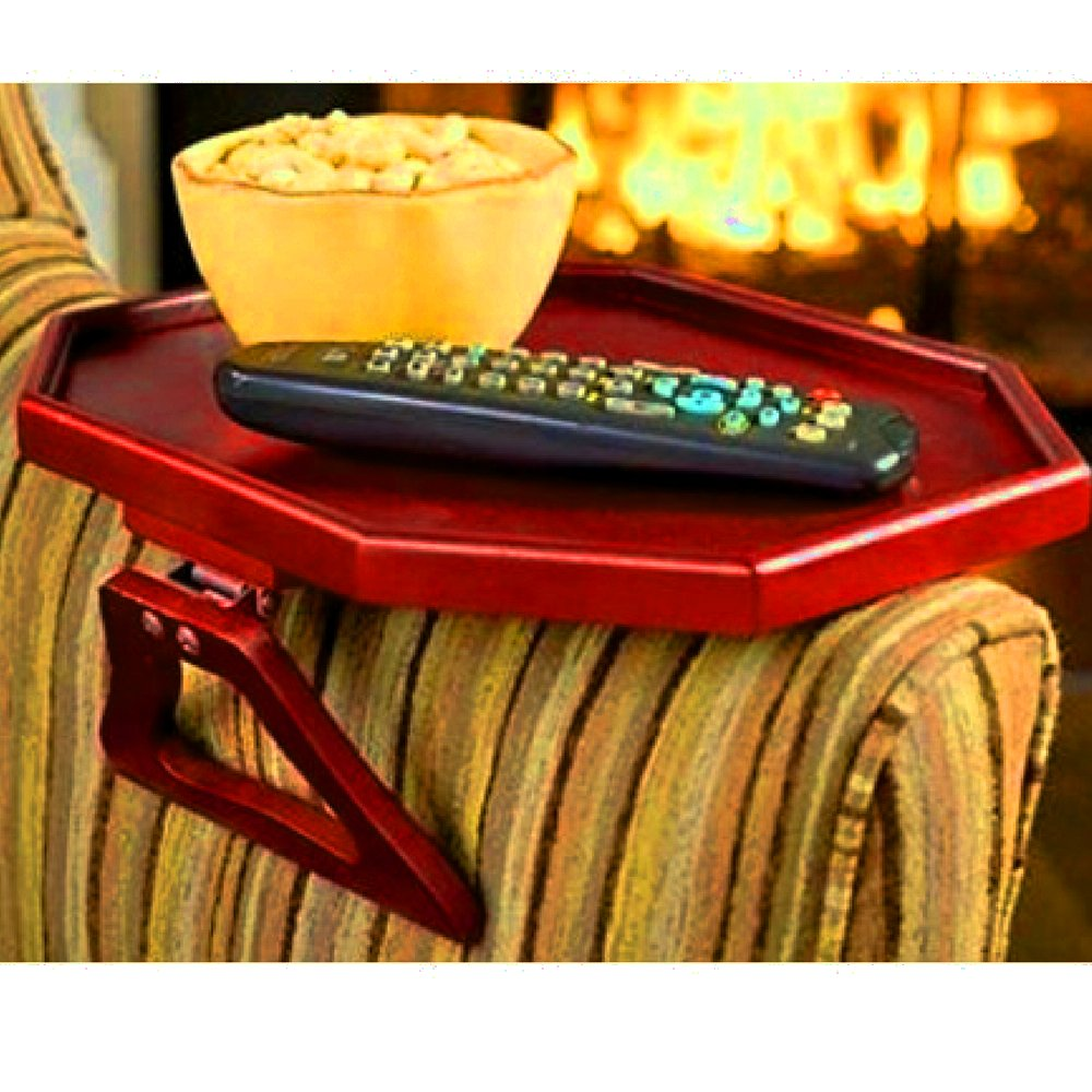 Groovy Amazon Com Arm Rest Coffee Table Wooden Cherry Red Portable Machost Co Dining Chair Design Ideas Machostcouk