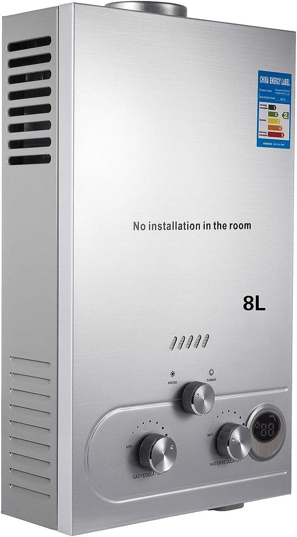 Guellin LNG Calentador de Agua de Gas Natural Calentador de Agua Calentador de Agua Automático Calentador de Agua Instantáneo Natural Gas Water Heater (8L)