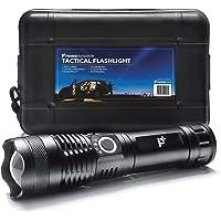 PrimeOutdoor Ultra Zaklamp - 1 Militaire LED Zaklantaarn met Oplaadbare Batterij - 3000 Lumen - IP65 Waterdicht…