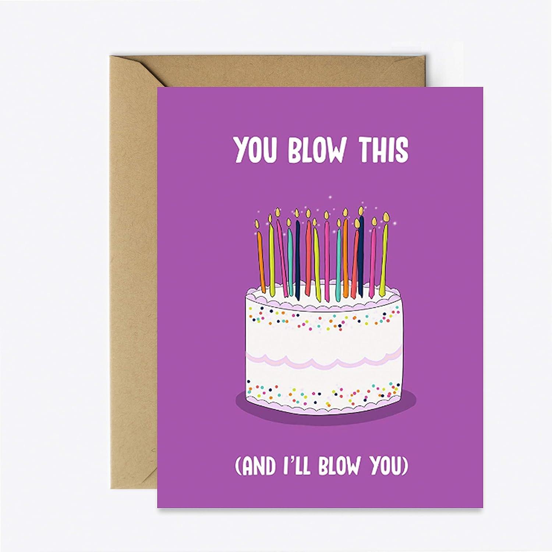 Amazon Com Dirty Birthday Card Funny Boyfriend Husband Greeting Card For Her Him Handmade