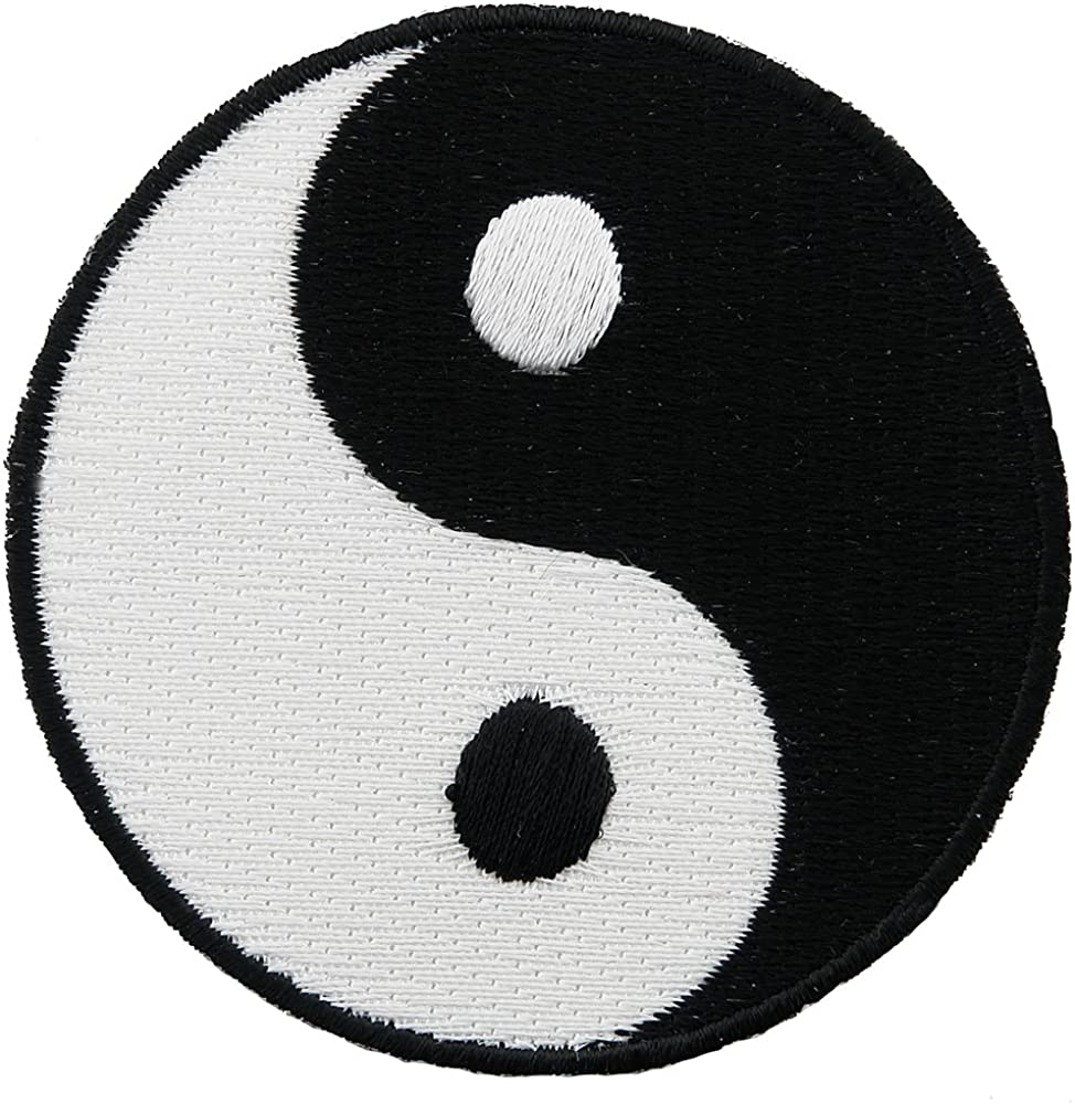 Amazon Com Yin Yang Embroidered Patch Iron On Chinese Taoism Symbol Clothing