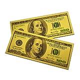 2PCS x $100 Bill One Hundred Dollar Lucky Money